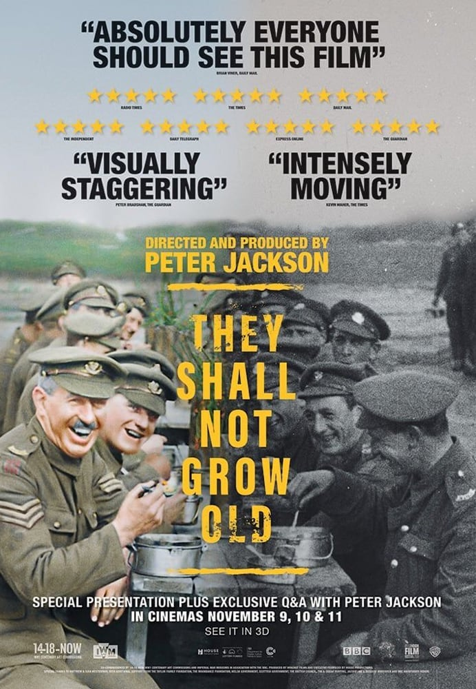 Movie poster for They Shall Not Grow Old