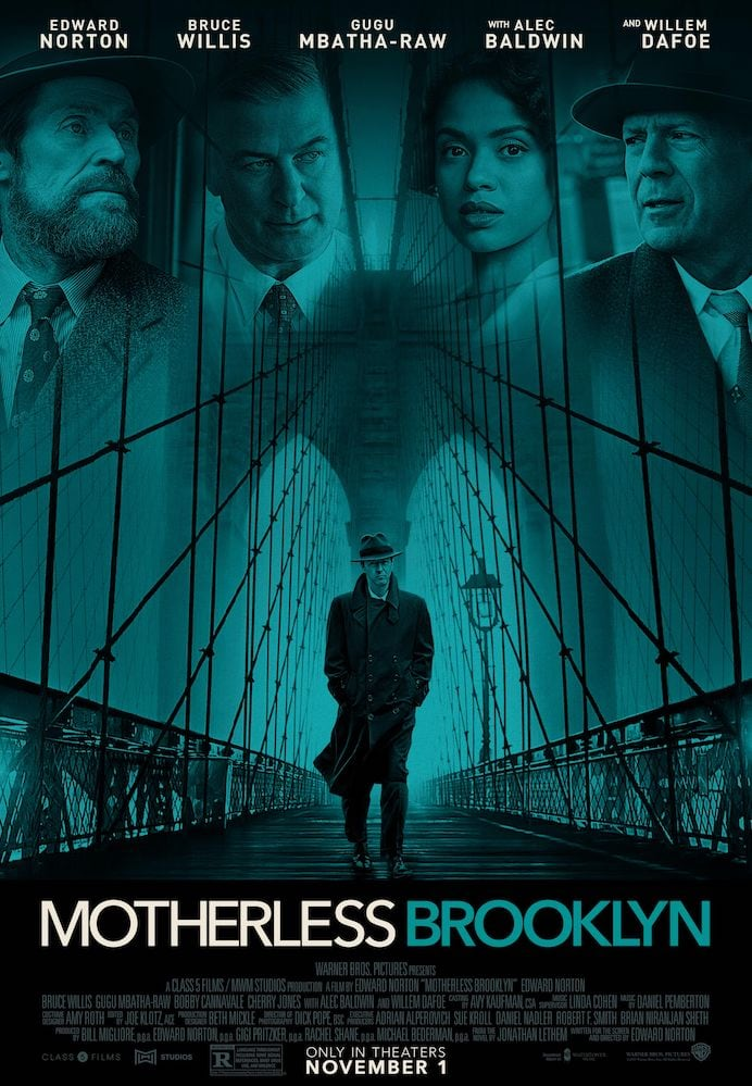 Movie poster for Motherless Brooklyn
